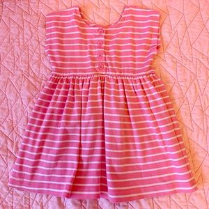 Hannah Andersson size 90 pink/white stripper dress